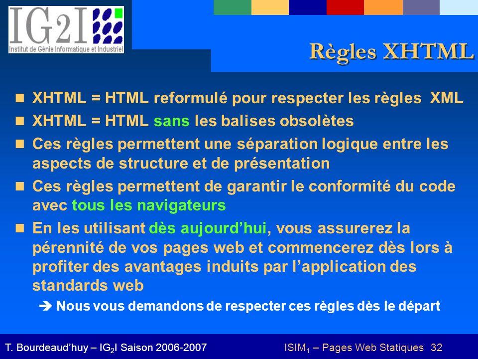 ISIM1 – Pages Web Statiques 32