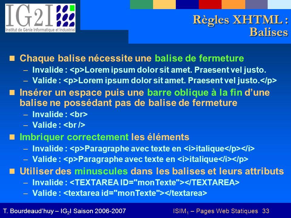 ISIM1 – Pages Web Statiques 33