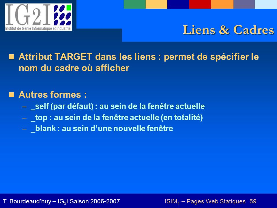 Introduction aux syst mes d information et multim dia for Code html lien nouvelle fenetre