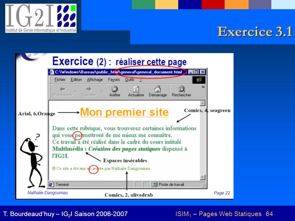 ISIM1 – Pages Web Statiques 64