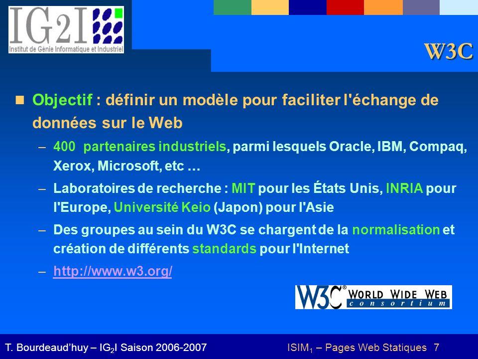 ISIM1 – Pages Web Statiques 7