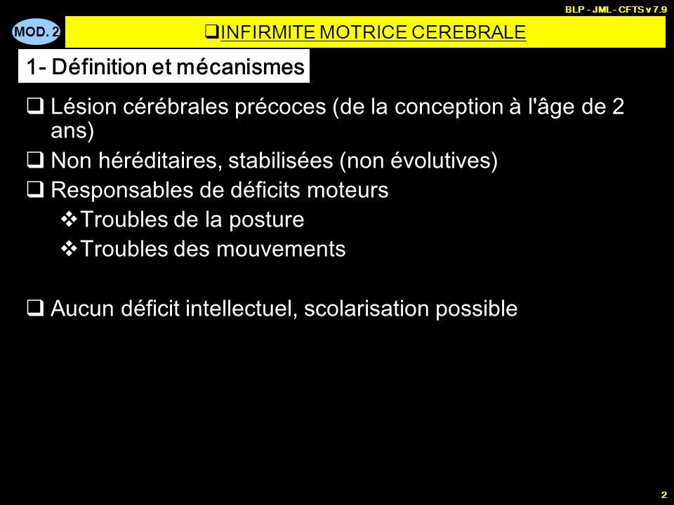 INFIRMITE MOTRICE CEREBRALE