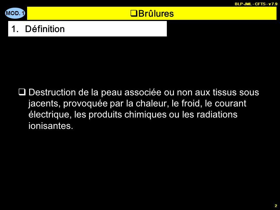 BLP-JML - CFTS - v 7.9 Brûlures. Définition.