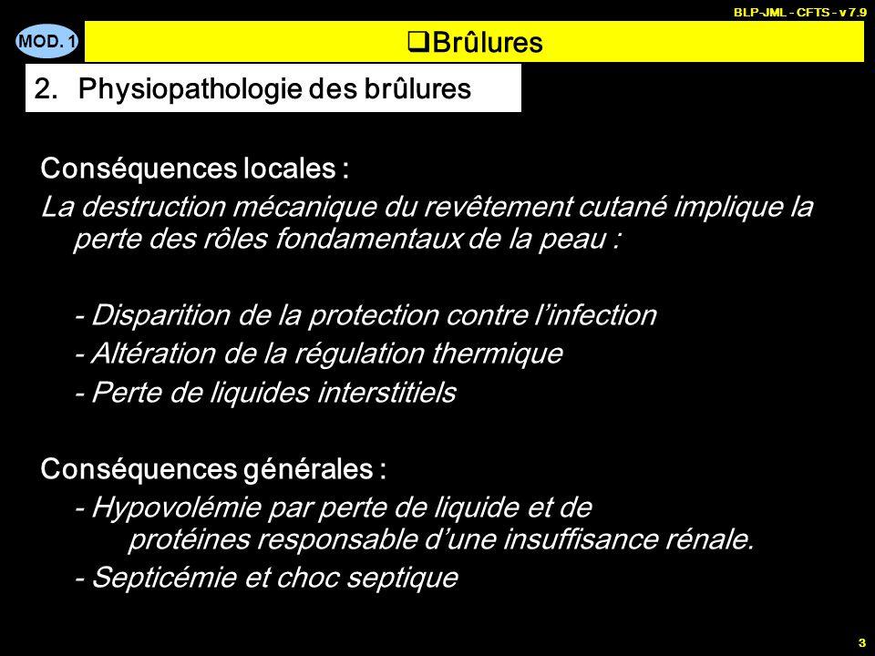 Physiopathologie des brûlures