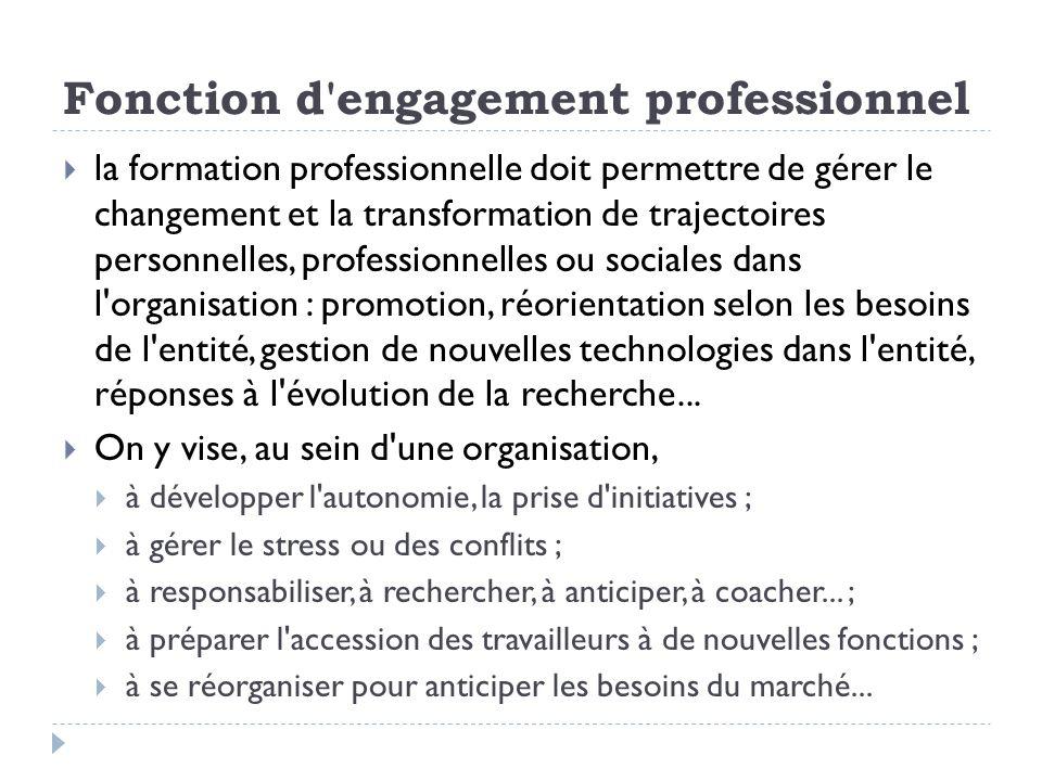 Fonction d engagement professionnel