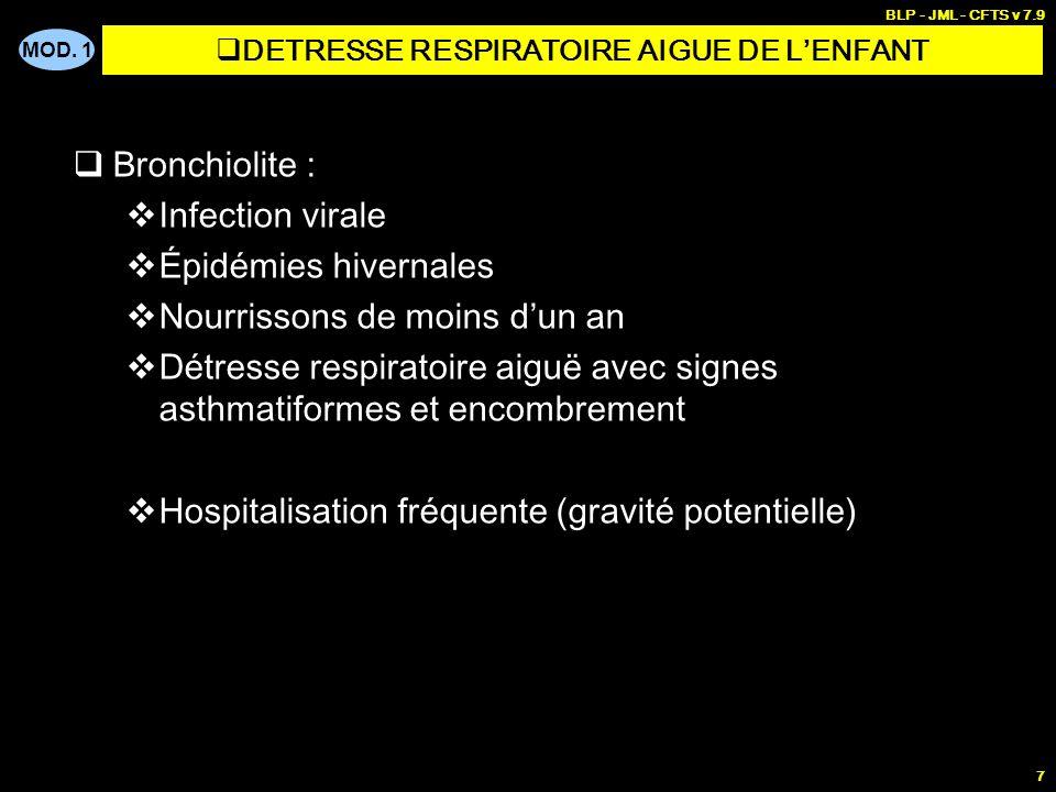 DETRESSE RESPIRATOIRE AIGUE DE L'ENFANT