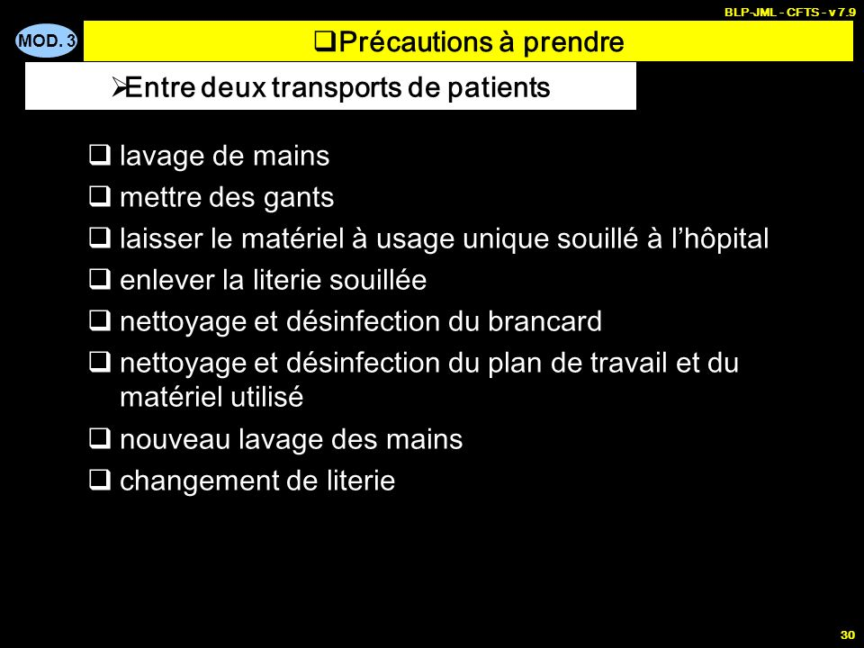 Entre deux transports de patients