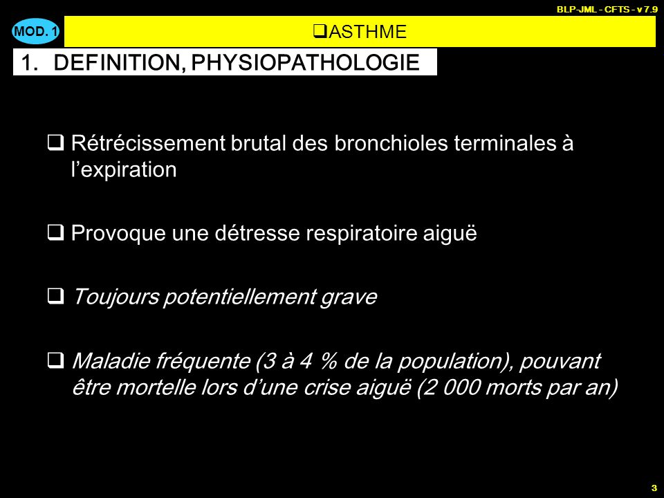 DEFINITION, PHYSIOPATHOLOGIE