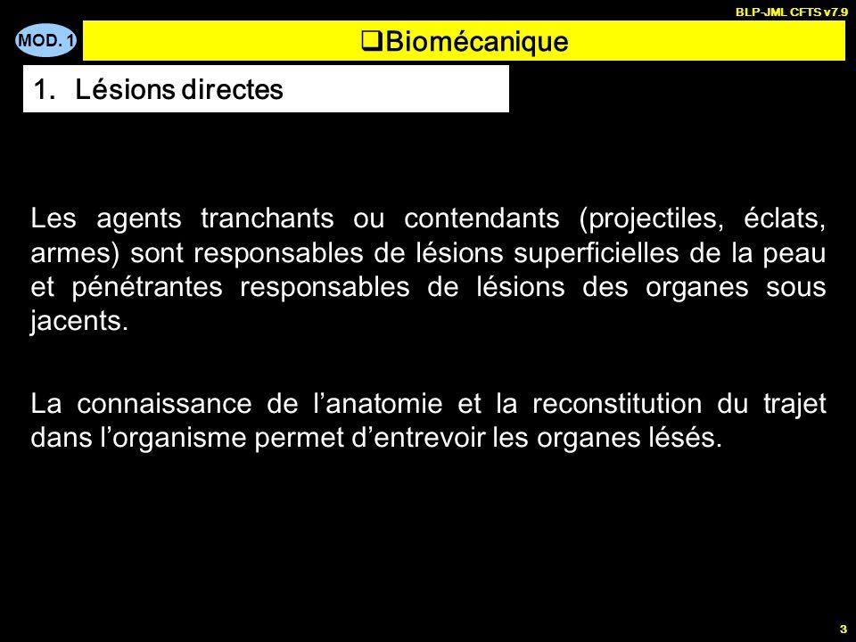 Biomécanique Lésions directes