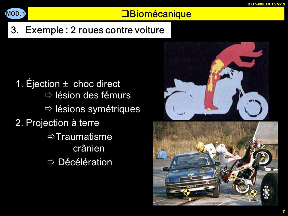 Exemple : 2 roues contre voiture