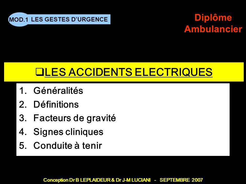 LES ACCIDENTS ELECTRIQUES