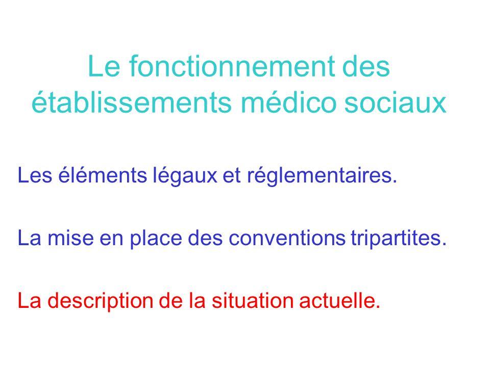 Le fonctionnement des établissements médico sociaux