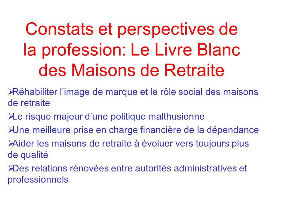 Constats et perspectives de la profession: Le Livre Blanc des Maisons de Retraite