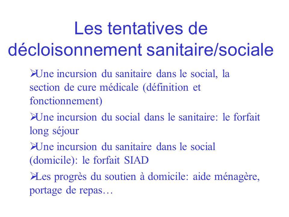 Les tentatives de décloisonnement sanitaire/sociale