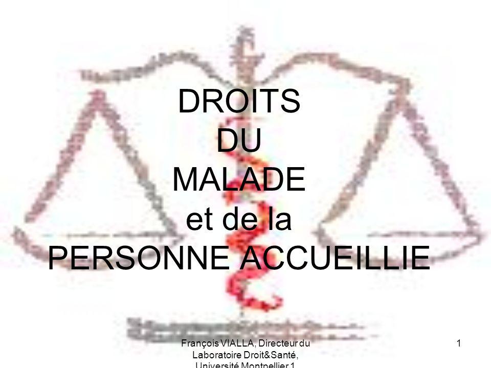 DROITS DU MALADE et de la PERSONNE ACCUEILLIE