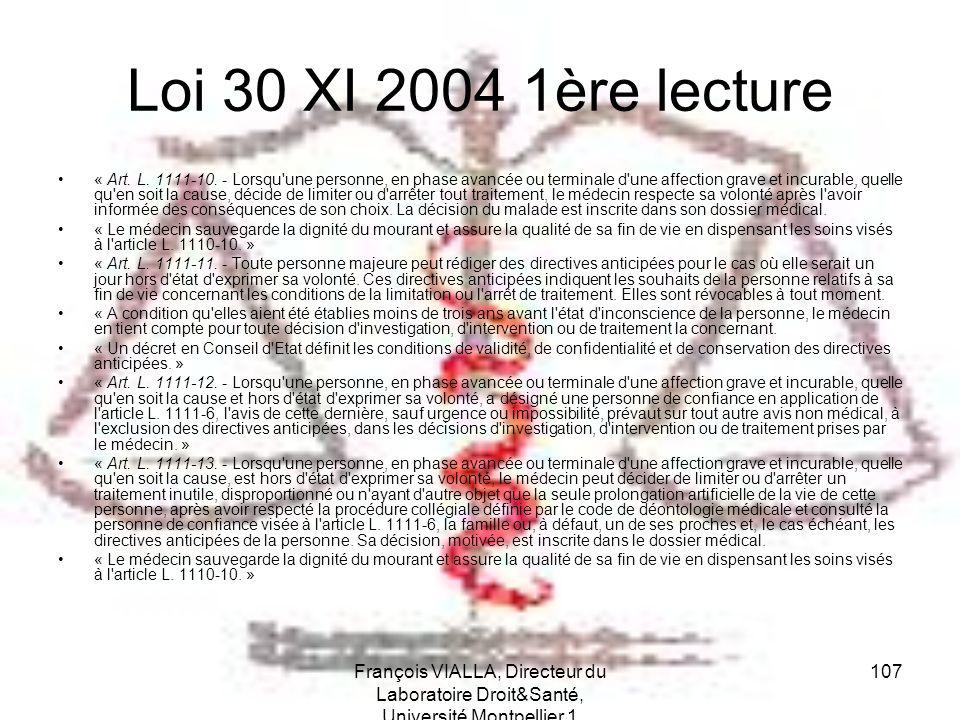 Loi 30 XI 2004 1ère lecture