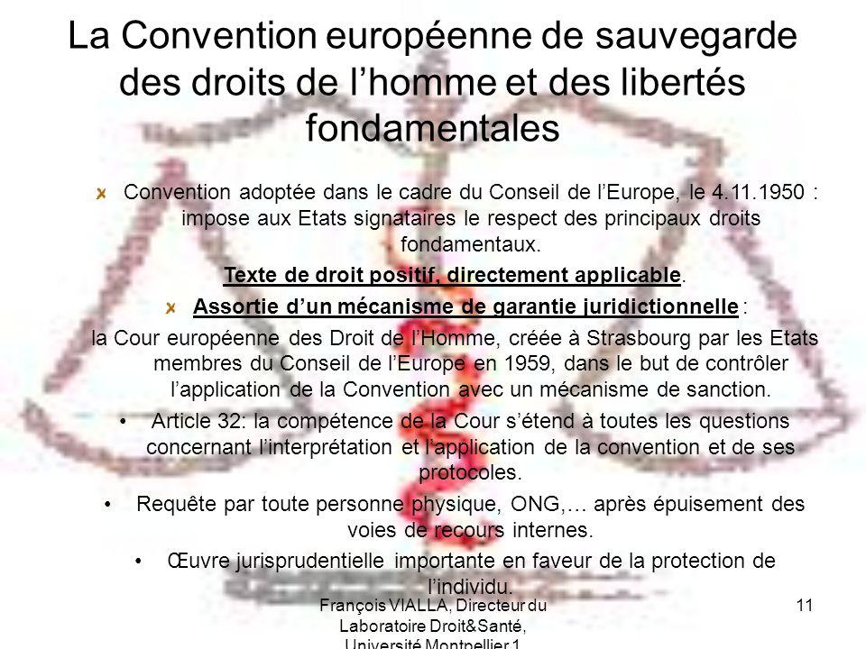 La Convention européenne de sauvegarde des droits de l'homme et des libertés fondamentales