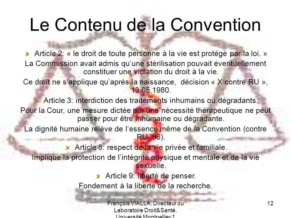 Le Contenu de la Convention