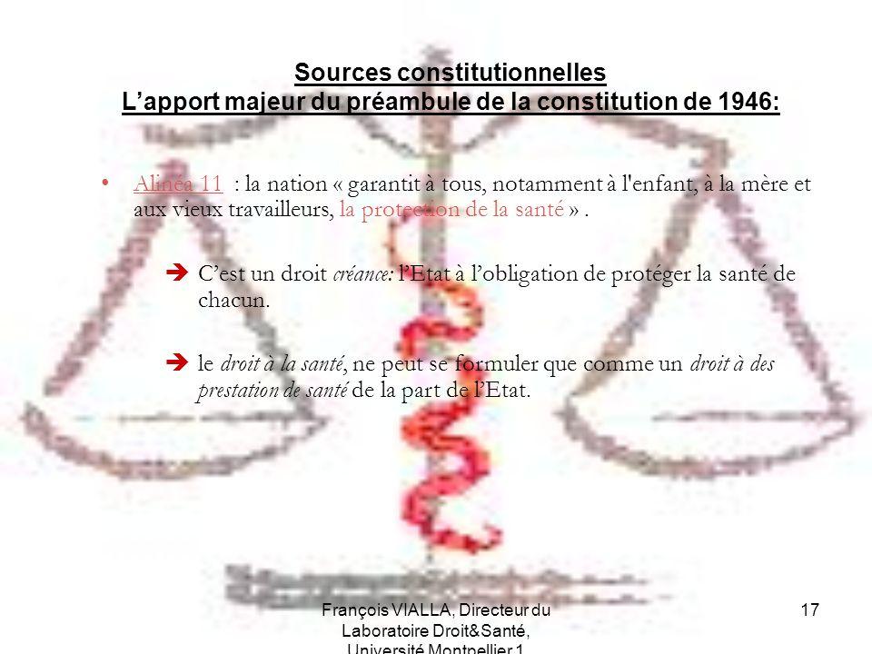 Sources constitutionnelles L'apport majeur du préambule de la constitution de 1946:
