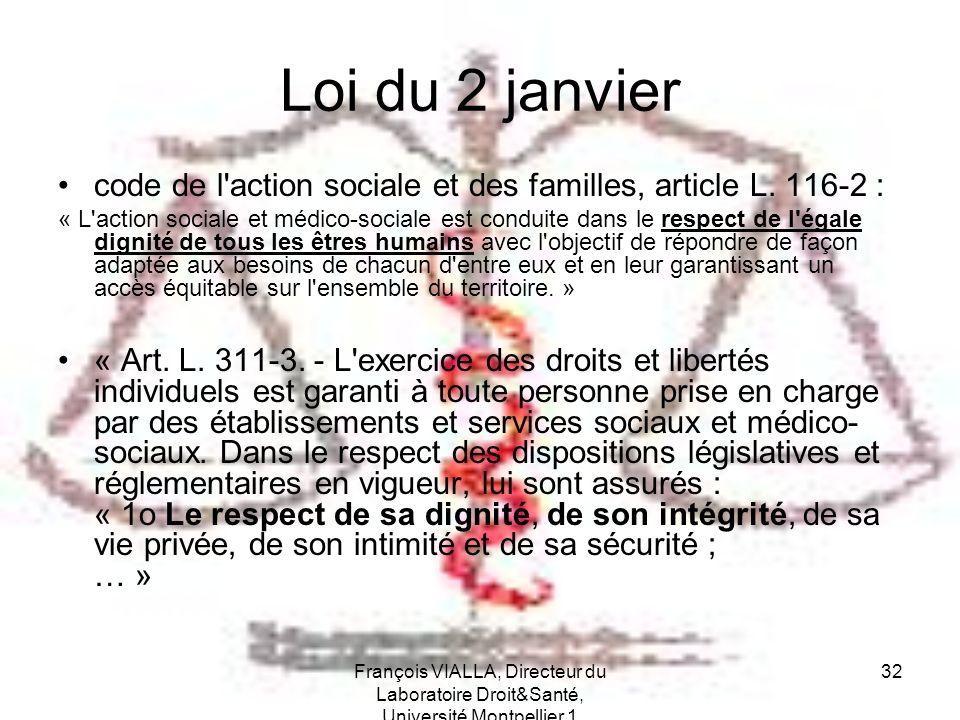 Loi du 2 janvier code de l action sociale et des familles, article L. 116-2 :