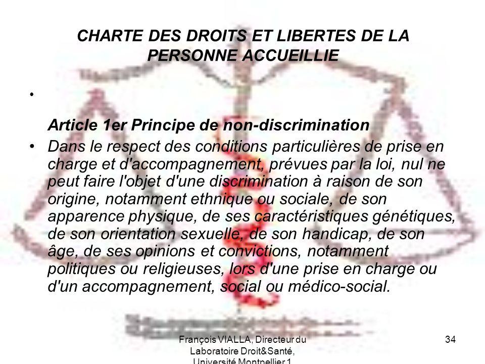 CHARTE DES DROITS ET LIBERTES DE LA PERSONNE ACCUEILLIE