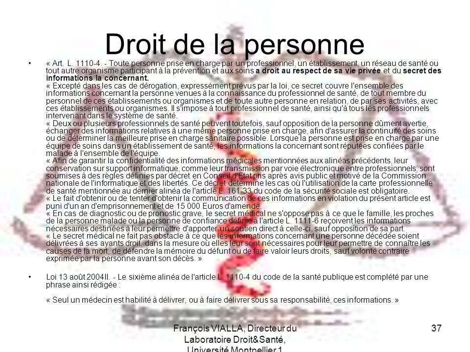 Droit de la personne