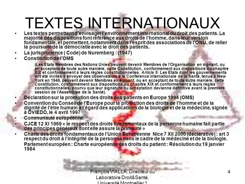 TEXTES INTERNATIONAUX