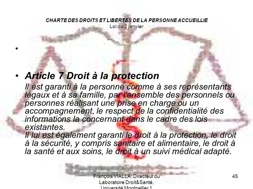 Article 7 Droit à la protection