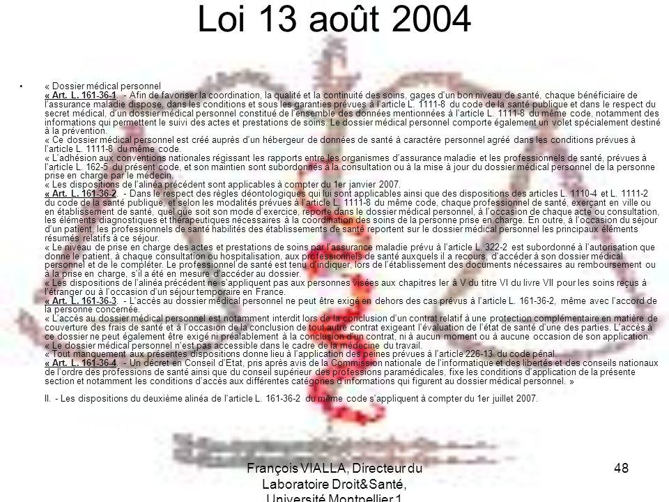 Loi 13 août 2004
