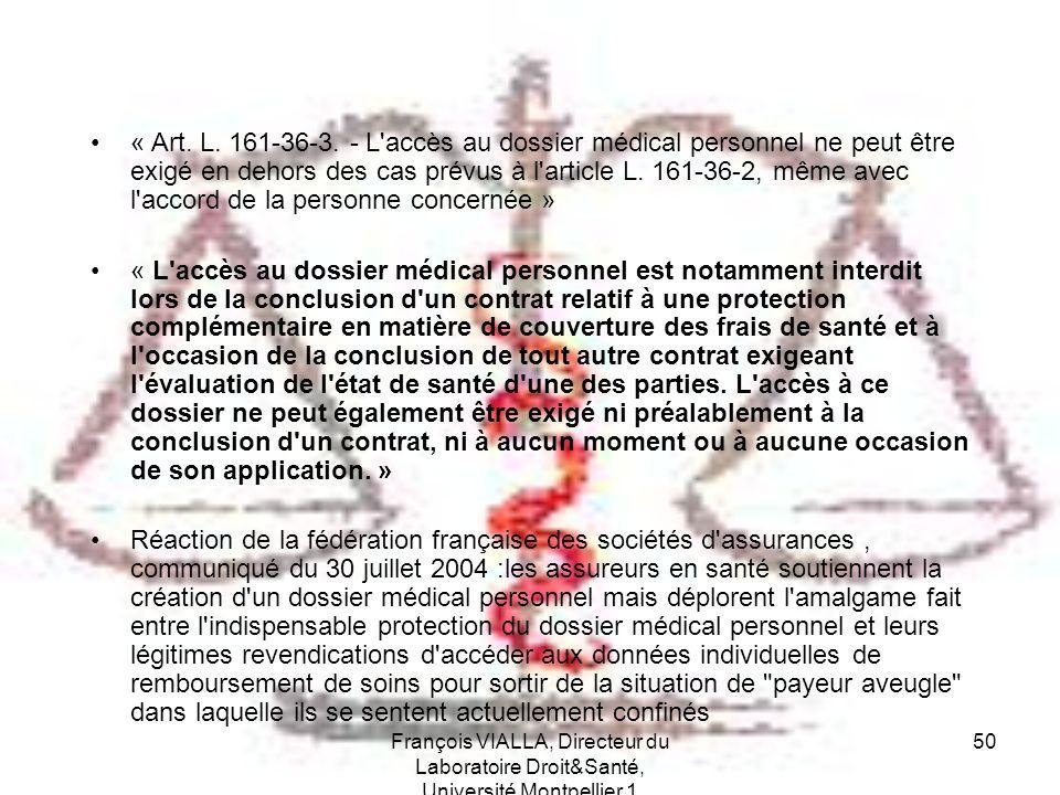 « Art. L. 161-36-3. - L accès au dossier médical personnel ne peut être exigé en dehors des cas prévus à l article L. 161-36-2, même avec l accord de la personne concernée »