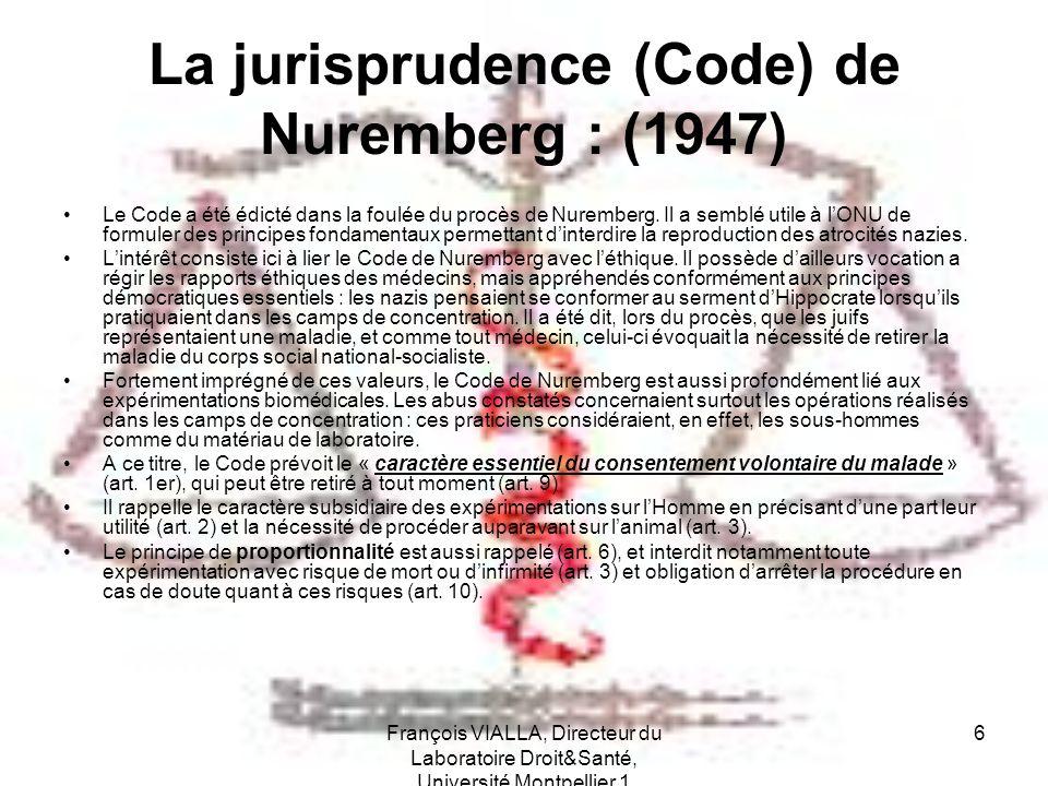 La jurisprudence (Code) de Nuremberg : (1947)