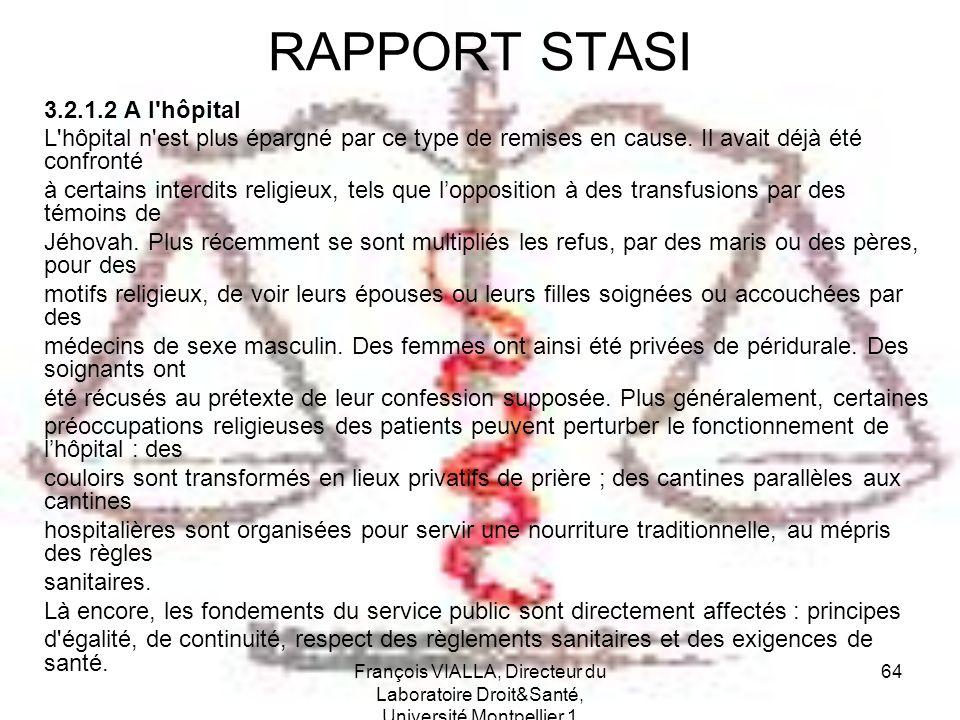 RAPPORT STASI 3.2.1.2 A l hôpital
