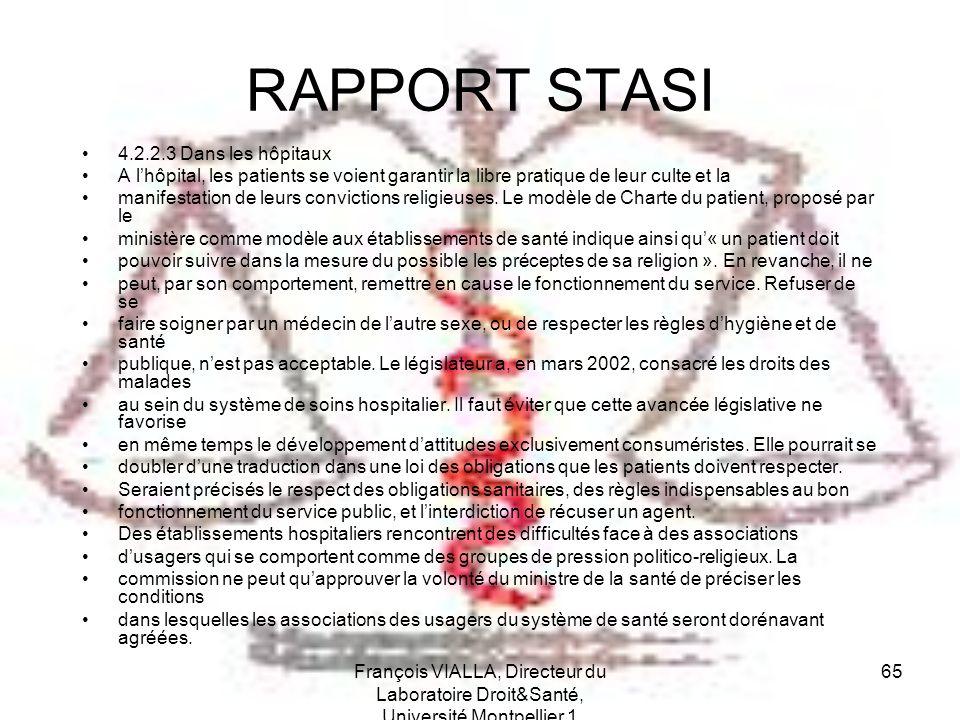 RAPPORT STASI 4.2.2.3 Dans les hôpitaux