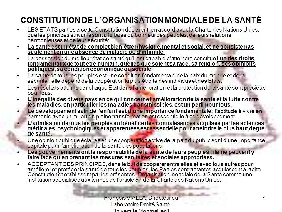 CONSTITUTION DE L'ORGANISATION MONDIALE DE LA SANTÉ
