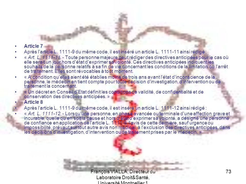 Article 7 Après l article L. 1111-9 du même code, il est inséré un article L. 1111-11 ainsi rédigé :