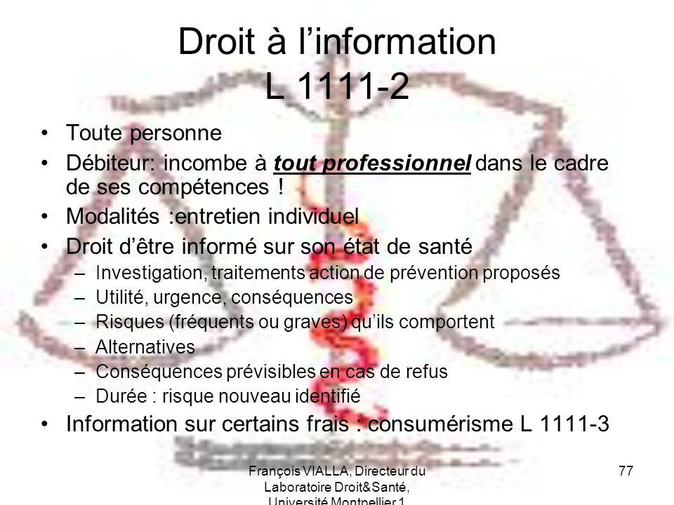 Droit à l'information L 1111-2