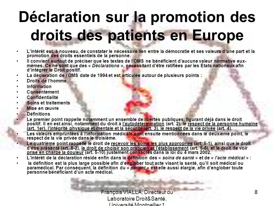 Déclaration sur la promotion des droits des patients en Europe