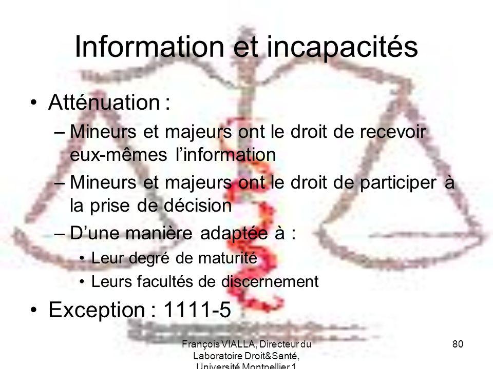 Information et incapacités