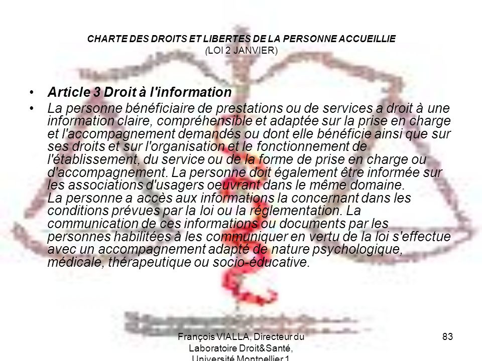Article 3 Droit à l information