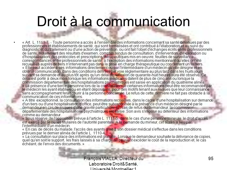 Droit à la communication