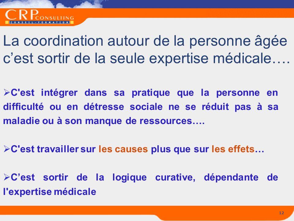 La coordination autour de la personne âgée c'est sortir de la seule expertise médicale….