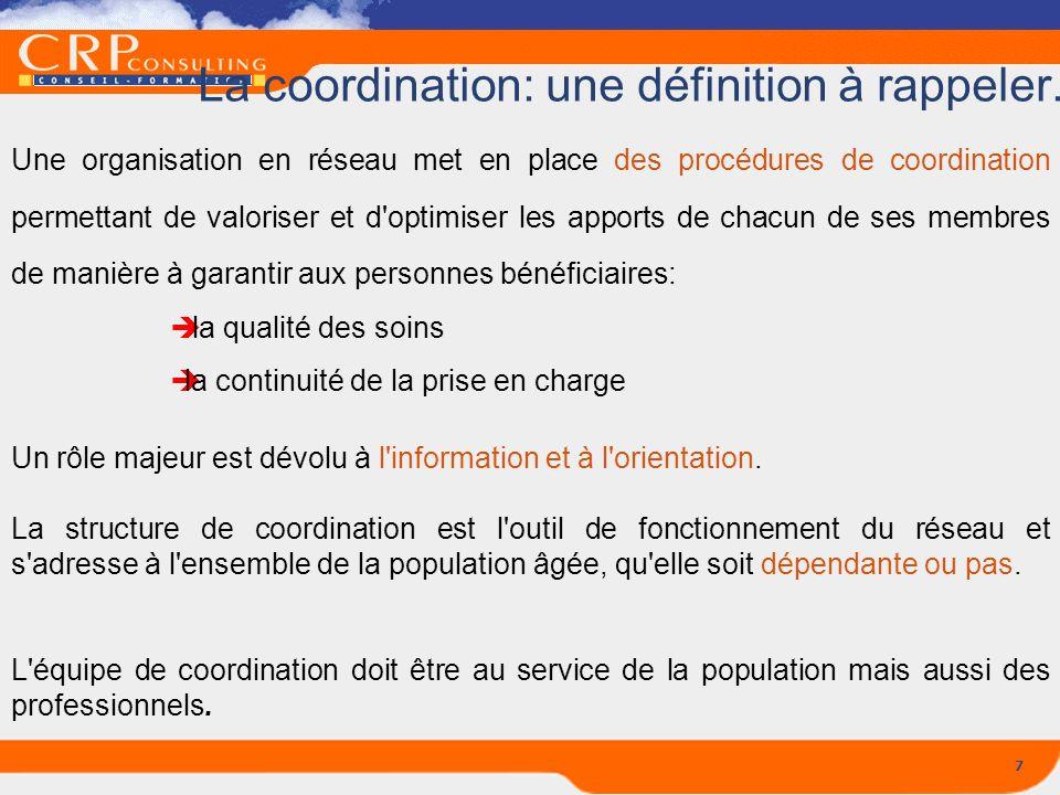 La coordination: une définition à rappeler...