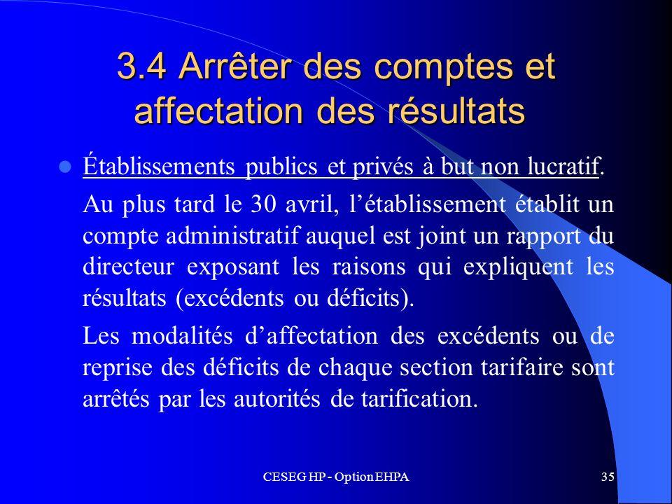 3.4 Arrêter des comptes et affectation des résultats