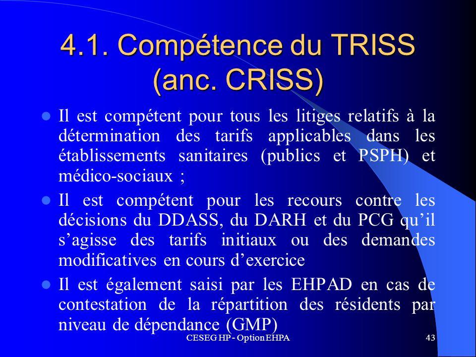4.1. Compétence du TRISS (anc. CRISS)