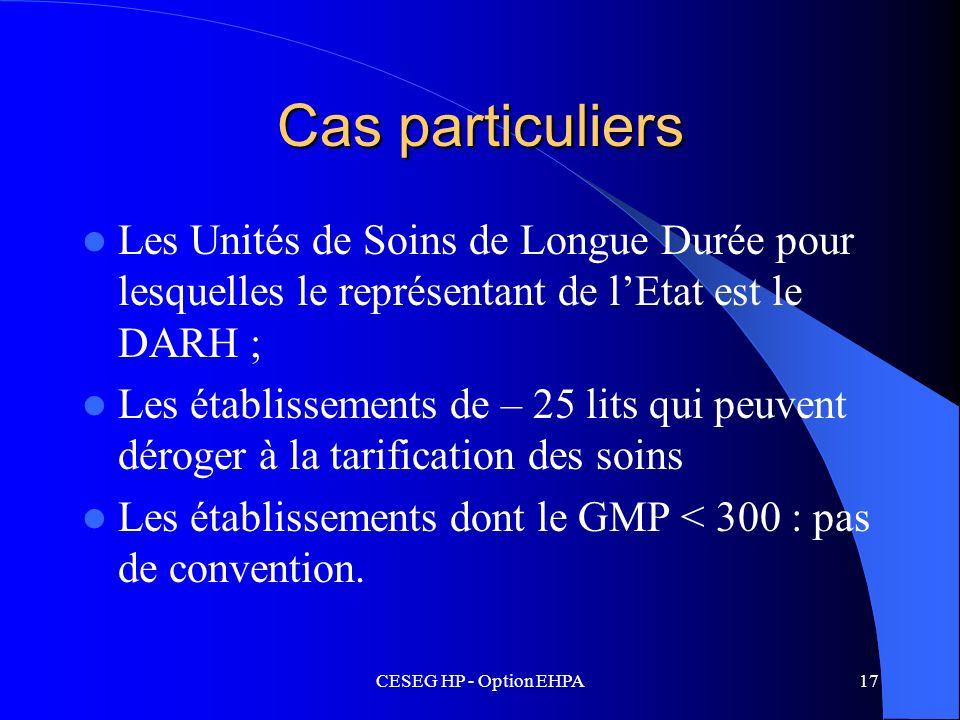 Cas particuliersLes Unités de Soins de Longue Durée pour lesquelles le représentant de l'Etat est le DARH ;