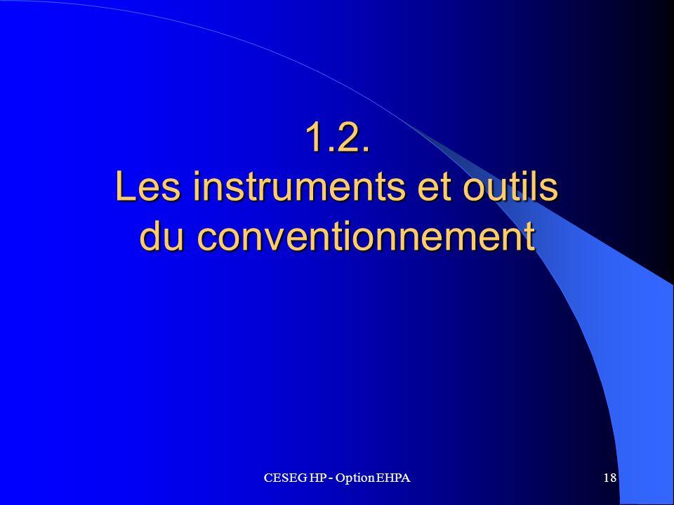 1.2. Les instruments et outils du conventionnement