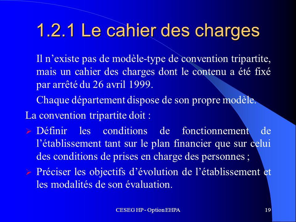 1.2.1 Le cahier des charges