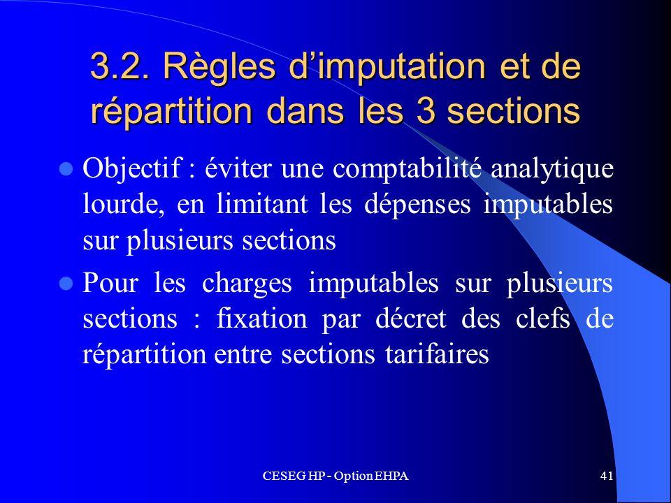 3.2. Règles d'imputation et de répartition dans les 3 sections