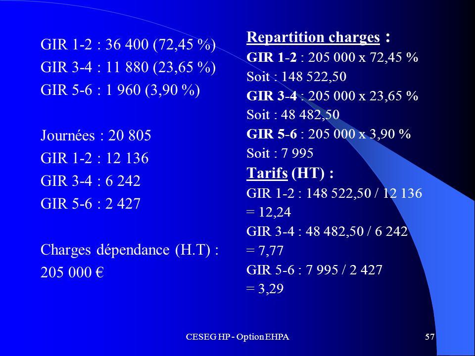 Charges dépendance (H.T) : 205 000 €