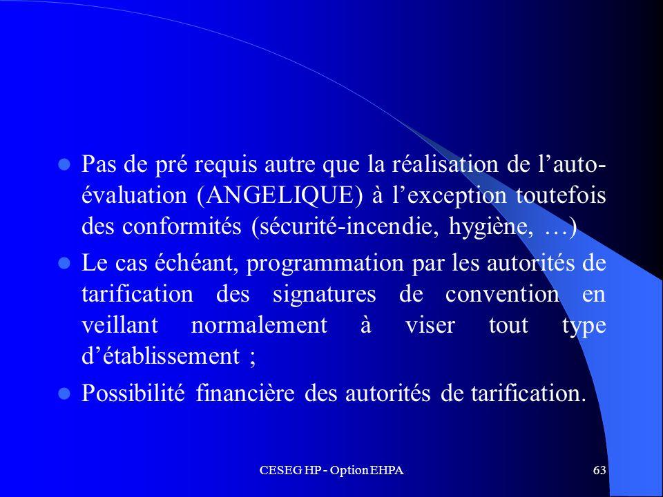 Possibilité financière des autorités de tarification.